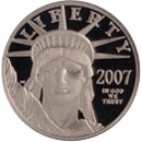 Platinum American Eagle Bullion Coin Obverse