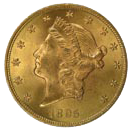 $20 Liberty Gold Coin Obverse