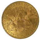 $20 Liberty Gold Coin Reverse