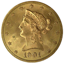 $10 Liberty Gold Coin Obverse