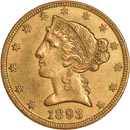 $5 Liberty Gold Coin Obverse