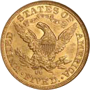 $5 Liberty Gold Coin Reverse