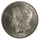 Morgan Silver Dollar Coin Obverse