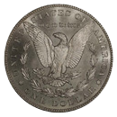Morgan Silver Dollar Coin Reverse