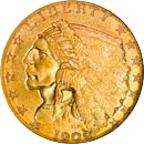 $2.50 Indian Gold Coin Obverse