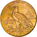 $2.50 Indian Gold Coin Reverse